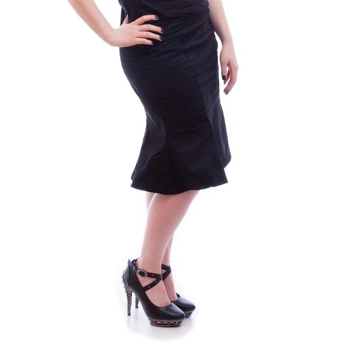 sukně dámská NECESSARY EVIL - Damara Retro Tulip - Black