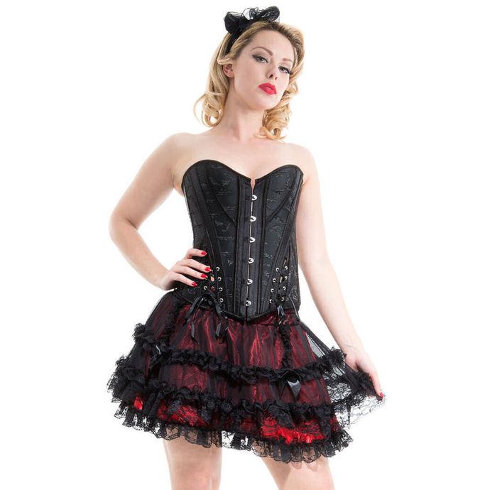 korzet dámský HEARTS AND ROSES - Black Embroidery