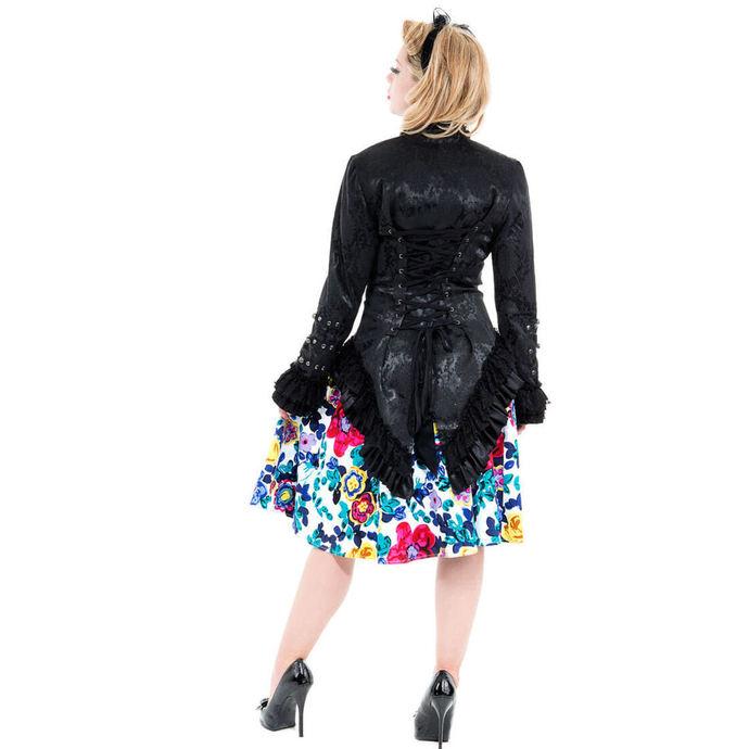 kabátek dámský HEARTS AND ROSES - Black Victorian Brocade