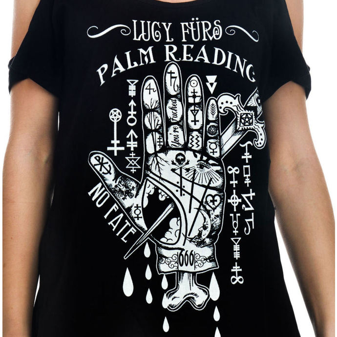 tričko dámské (top) TOO FAST - Lucy Furs Palm Read
