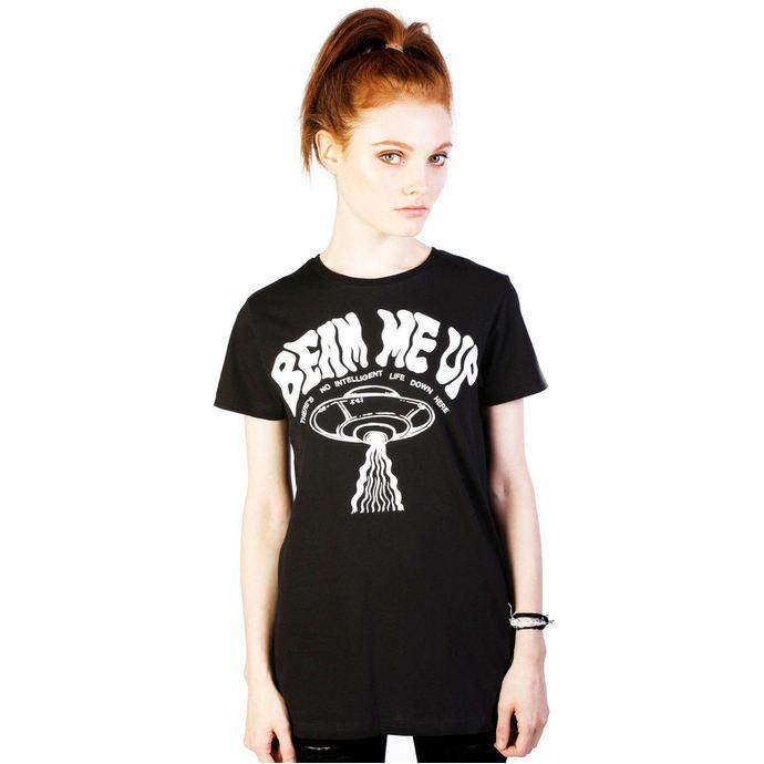 tričko dámské DISTURBIA - Beam Me Up - Black