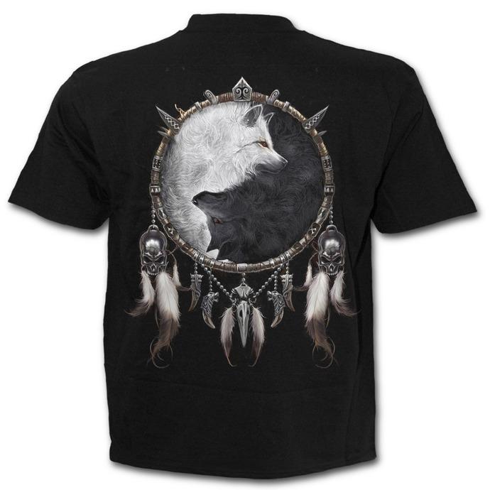 tričko pánské SPIRAL - Wolf Chi - Black