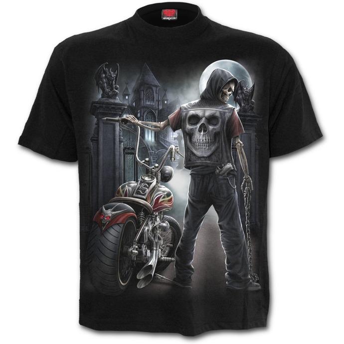 tričko pánské SPIRAL - Night Church - Black