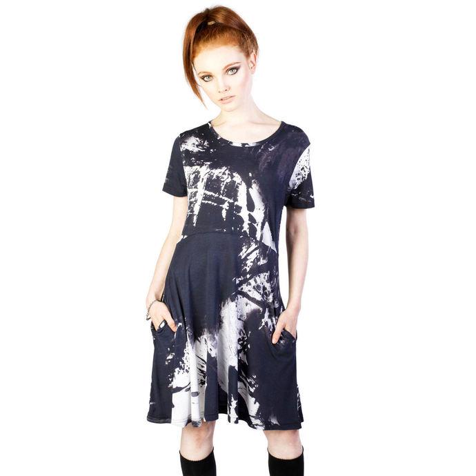 šaty dámské DISTURBIA - Ink - Black/White