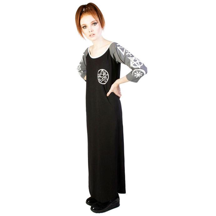 šaty dámské DISTURBIA - Necronomicon - Black/Grey