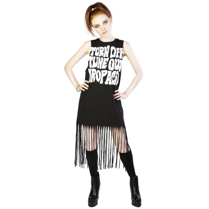šaty dámské DISTURBIA - Acid Fringe - Black