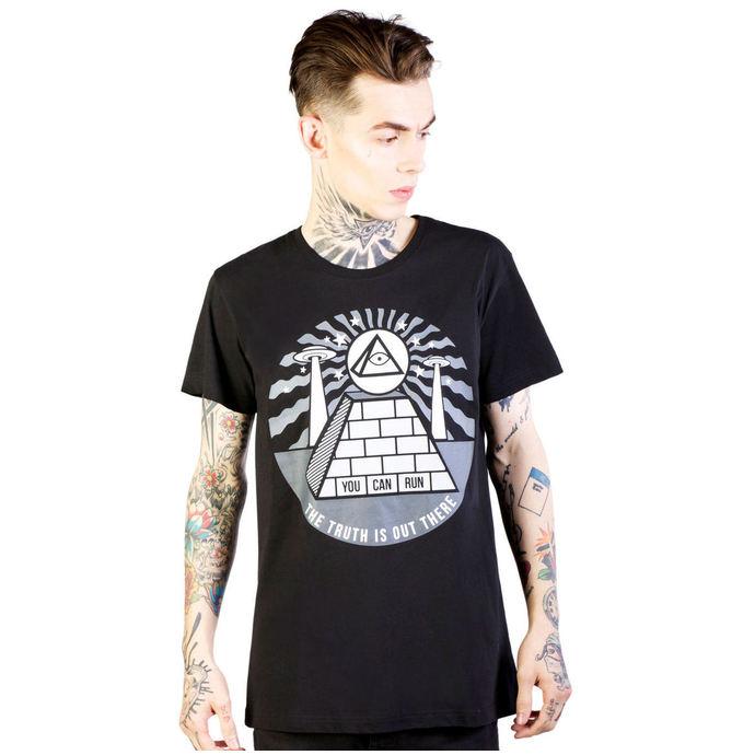 tričko pánské DISTURBIA - Pyramid - Black