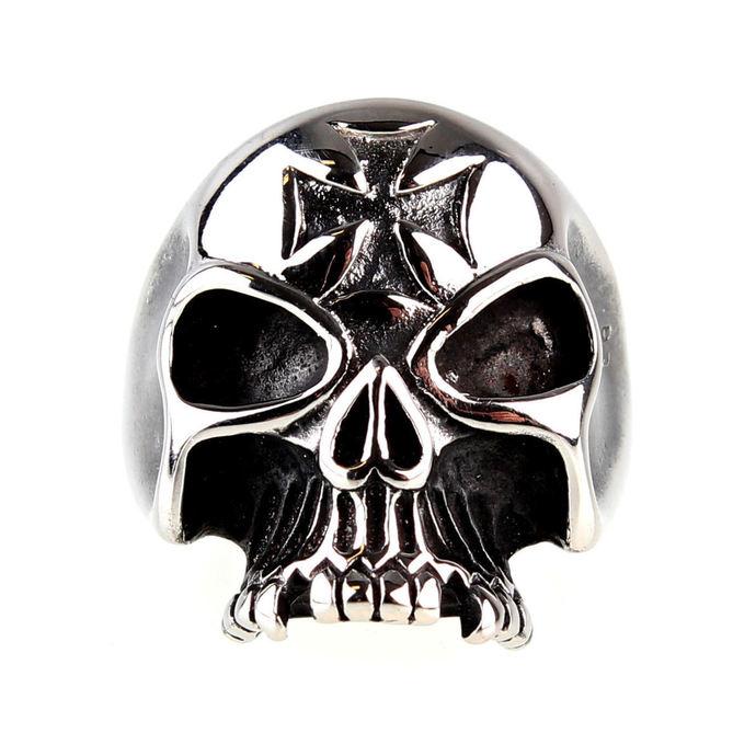 prsten ETNOX - Iron Cross Skull