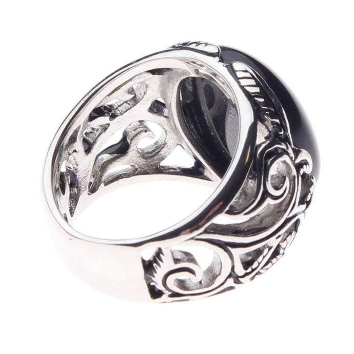 prsten ETNOX - Big Black Ornament