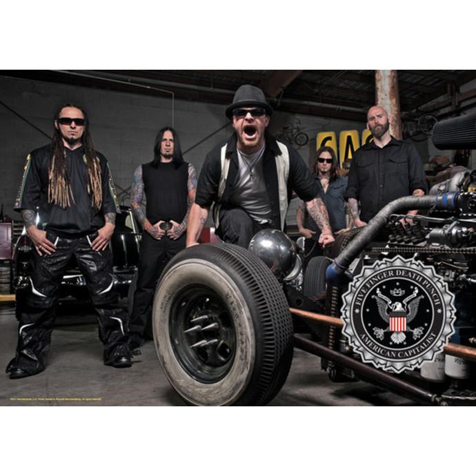 vlajka Five Finger Death Punch - Band Photo