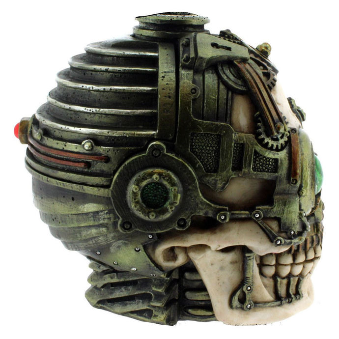 svícen (dekorace) Steampunk Skull