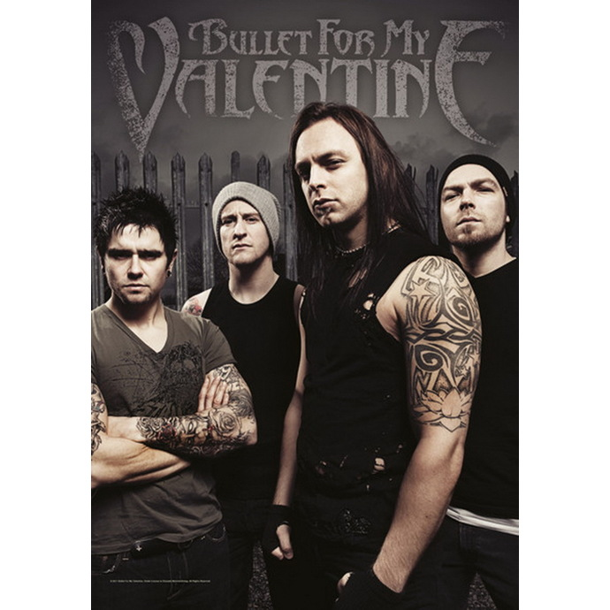 vlajka Bullet For My Valentine - Band Photo