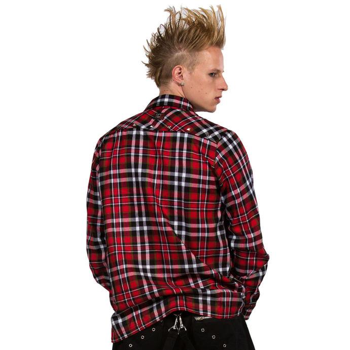 košile pánská DEAD THREADS - Red/Black/White