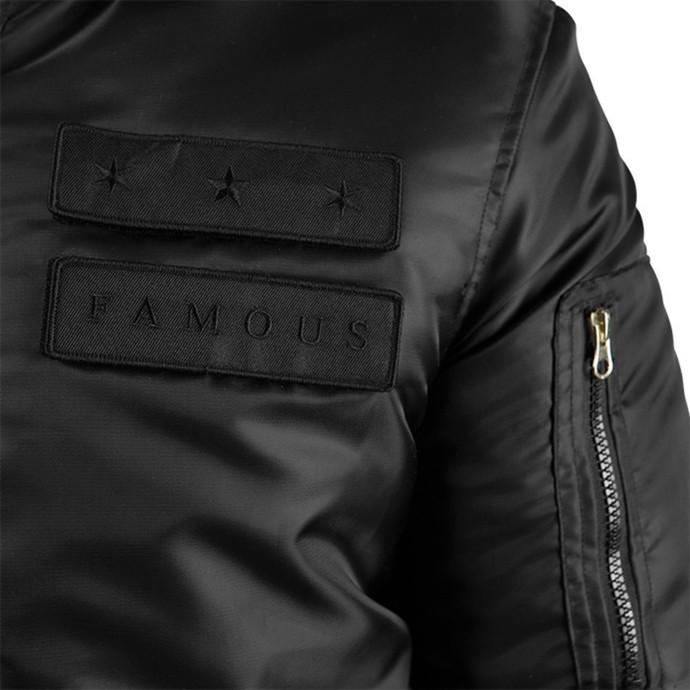 bunda pánská FAMOUS STARS & STRAPS - Covert MA - Black