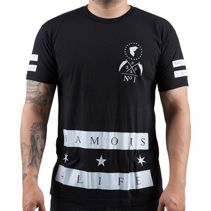 tričko pánské FAMOUS STARS & STRAPS - Serious Premium - Black