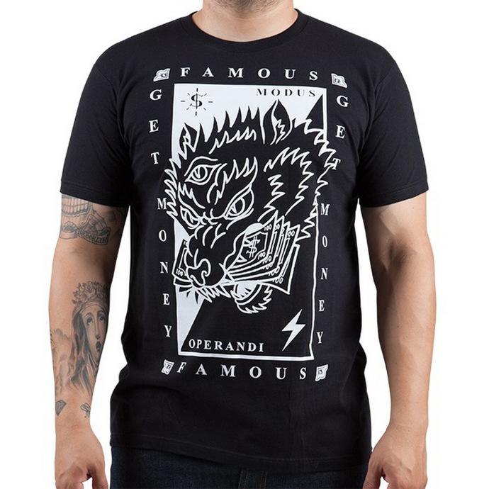 tričko pánské FAMOUS STARS & STRAPS - Wolf Money