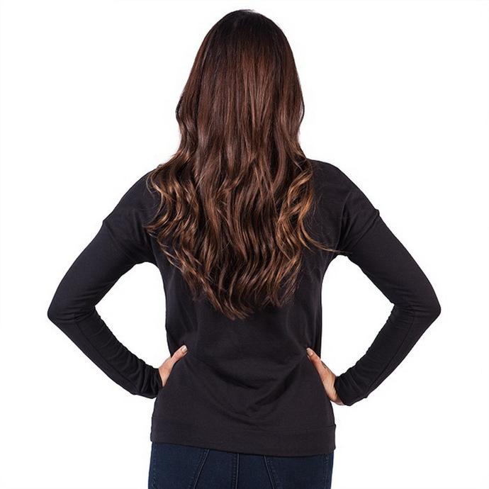 tričko dámské s dlouhým rukávem FAMOUS STARS & STRAPS - New Life - Black