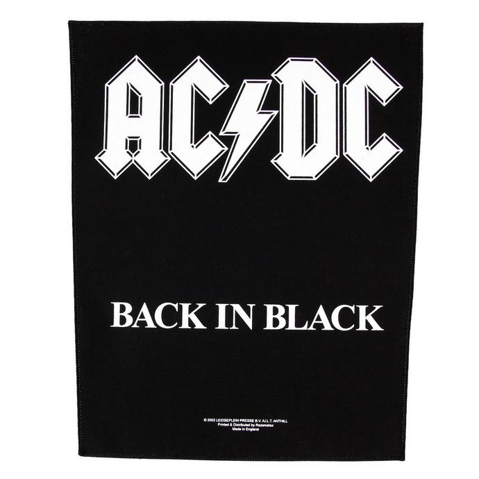 nášivka velká AC/DC - Back In Black - RAZAMATAZ