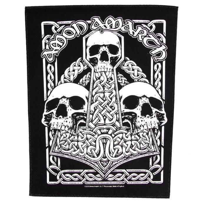 nášivka velká Amon Amarth - Three Skulls - RAZAMATAZ