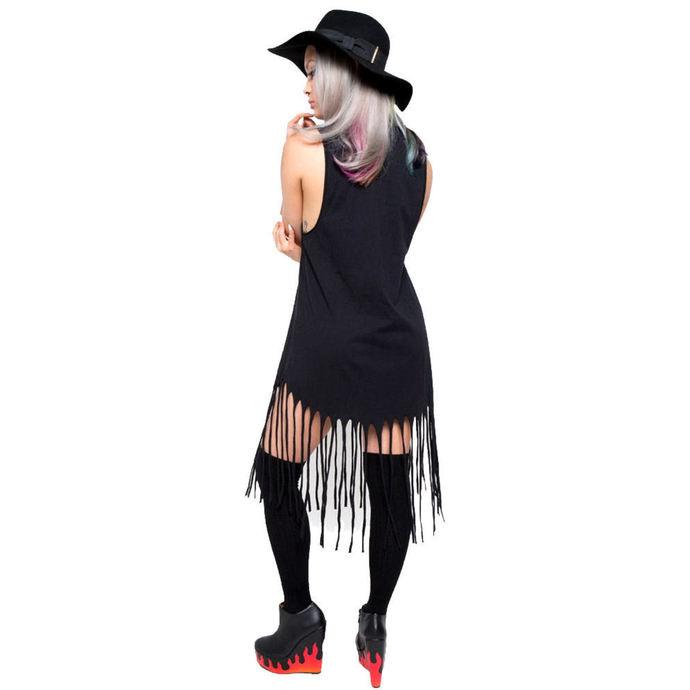 šaty dámské IRON FIST - Throne Fringe - Black