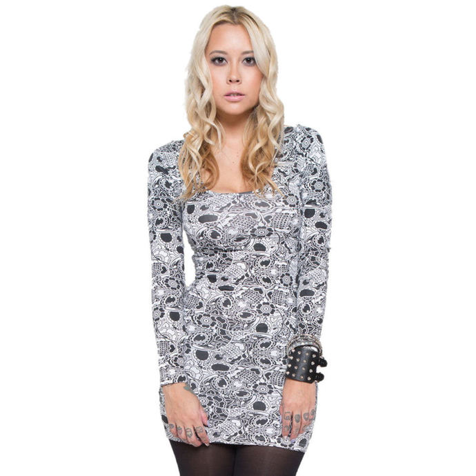 šaty dámské IRON FIST - Sugar Coma - White