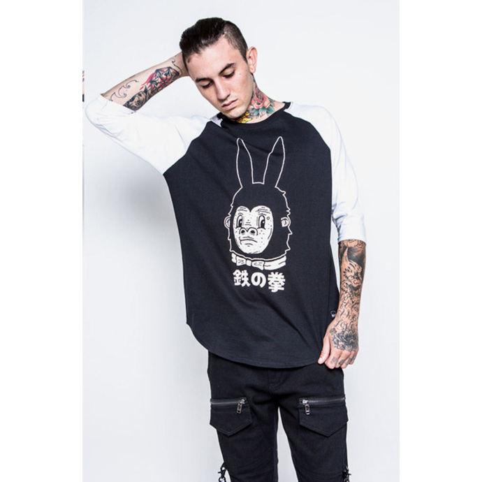 tričko pánské s 3/4 rukávem IRON FIST - Gogo-Rilla - Black/White