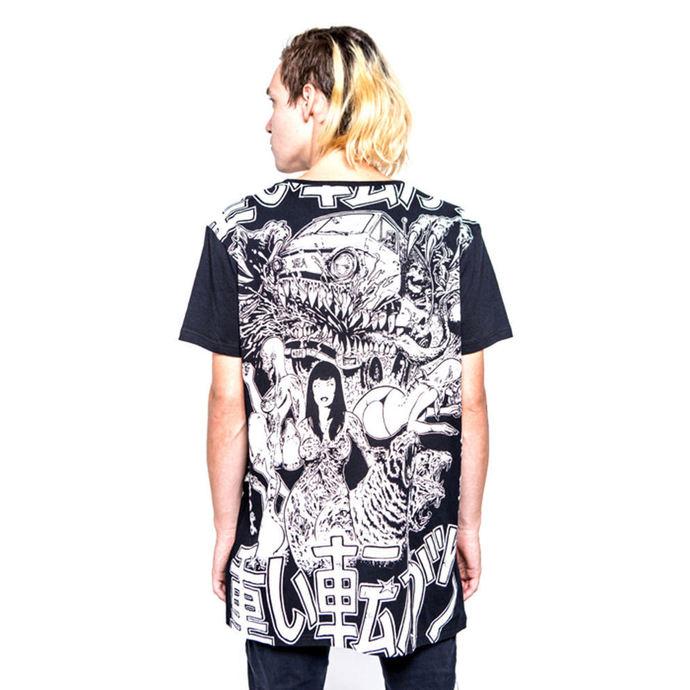 tričko pánské IRON FIST - Shinjuku Baggy Fit - Black