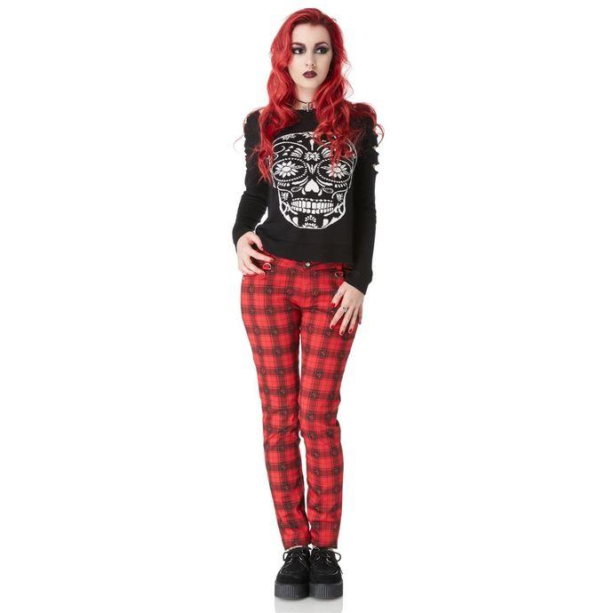 kalhoty dámské JAWBREAKER - Red Tartan