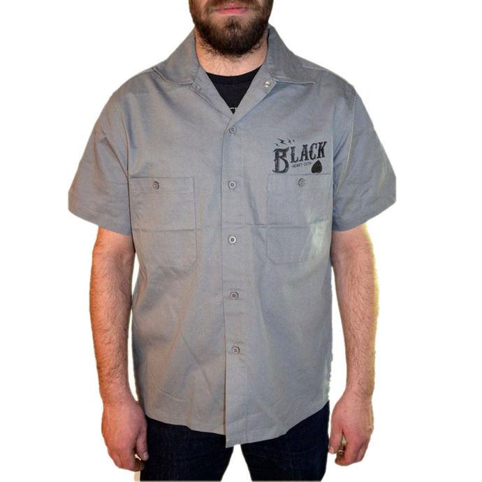 košile pánská BLACK HEART - Wrench Skull - Grey