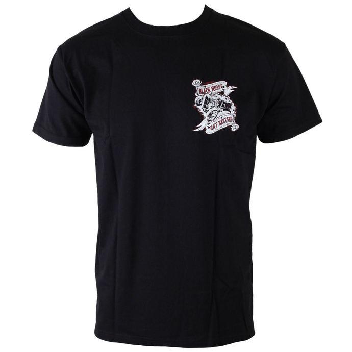 tričko pánské BLACK HEART - Rat Bastard - Black