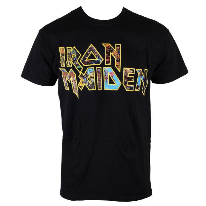 tričko pánské Iron Maiden - Eddie Logo - ROCK OFF