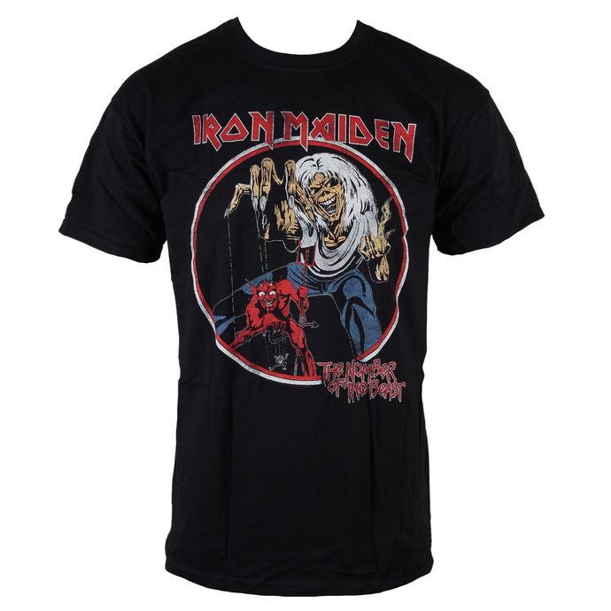 tričko pánské Iron Maiden - NOTB Vintage - Black - ROCK OFF