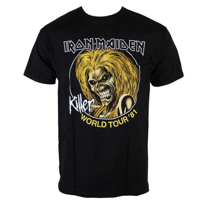 tričko pánské Iron Maiden - Killers World Tour 81 - Blk - ROCK OFF