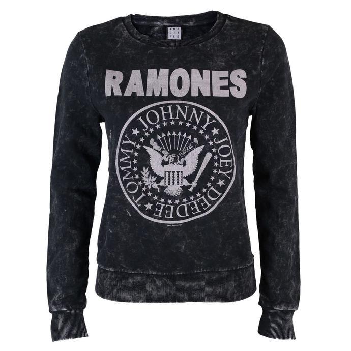 mikina dámská Ramones - Macrame Sweat - BLK - AMPLIFIED