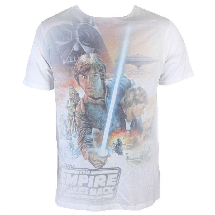 tričko pánské Star Wars - Luke Skywalker Sublimation - White - INDIEGO