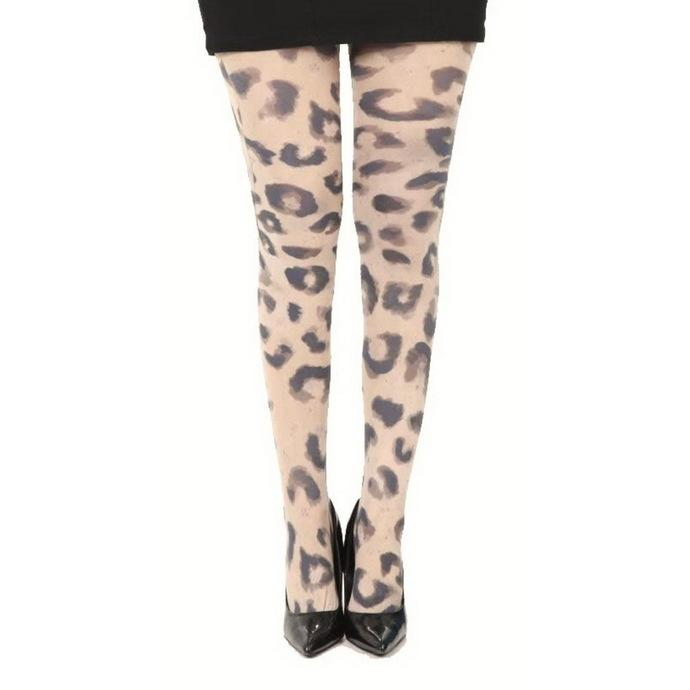 punčocháče PAMELA MANN - Big Leopard Printed - Natural