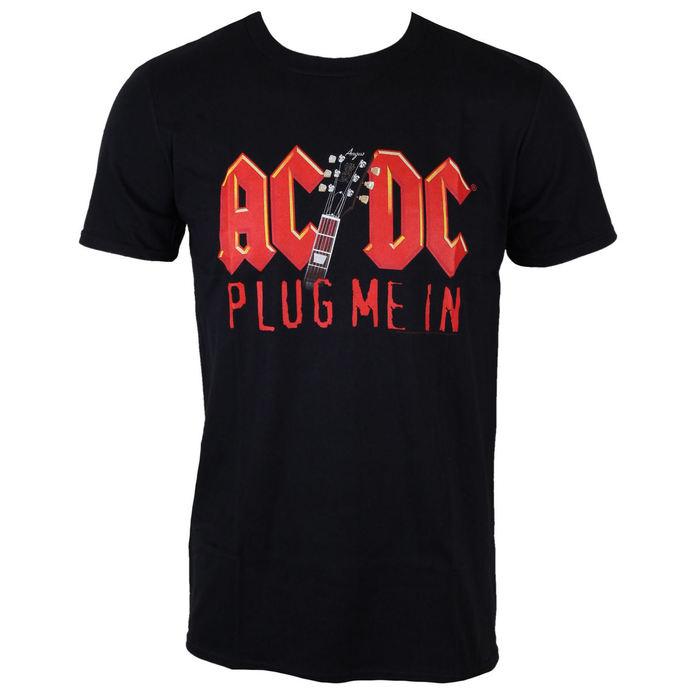 tričko pánské AC/DC - Plug me in with Angus Young - BLK - LOW FREQUENCY