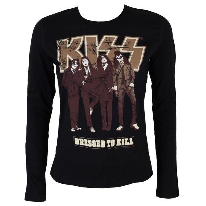 tričko dámské s dlouhým rukávem  KISS - Dressed to Kill - BLK - LOW FREQUENCY
