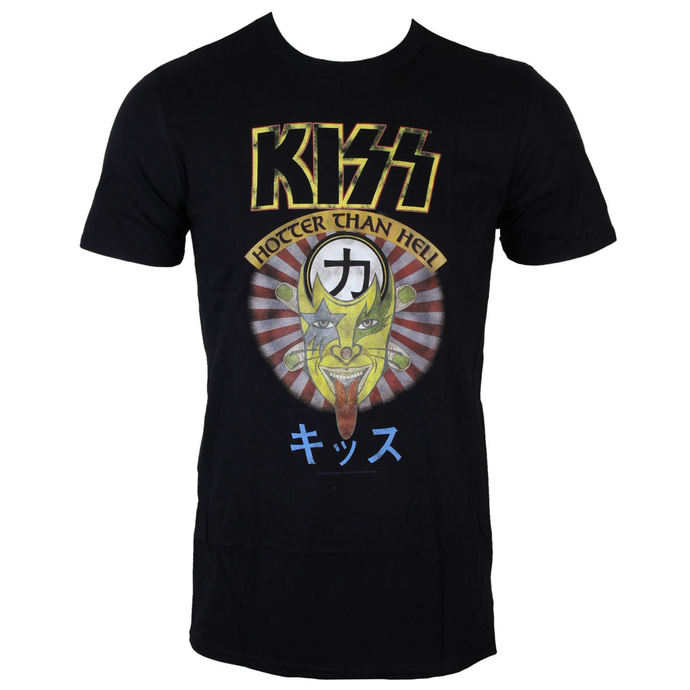 tričko pánské KISS - Hotter Than Hell - BLK - LOW FREQUENCY
