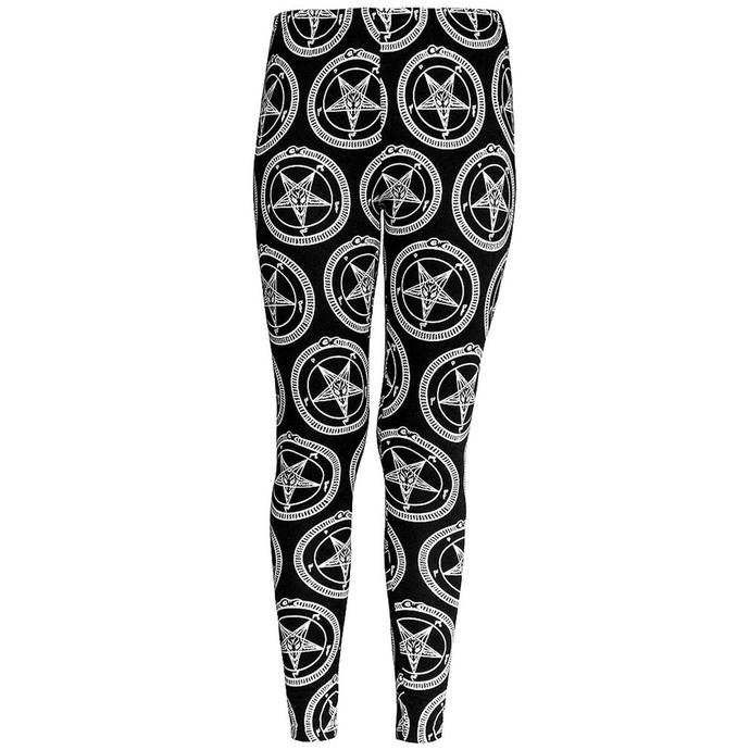kalhoty dámské (legíny) KILLSTAR - Baphomet - Black