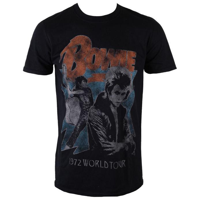 tričko pánské David Bowie - 1972 World Tour - Black - ROCK OFF
