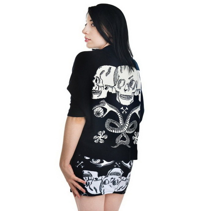 svetr dámský TOO FAST - Shrug Cardigan - Baroque Skull