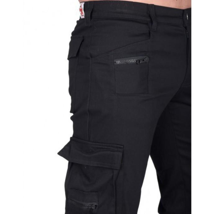 kalhoty pánské BLACK PISTOL - Combat Pants Denim - (Black)