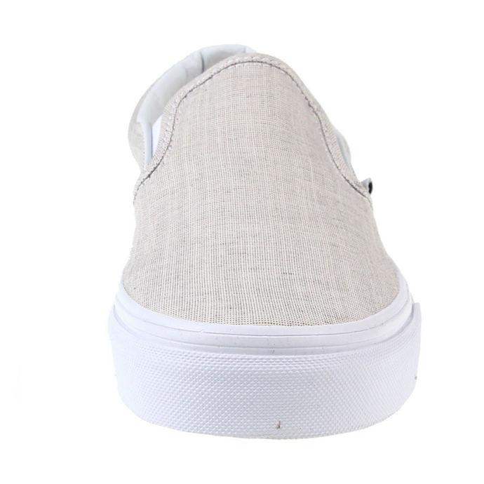 boty VANS - U Classic Slip-On - (Chambray) - Gray/True White