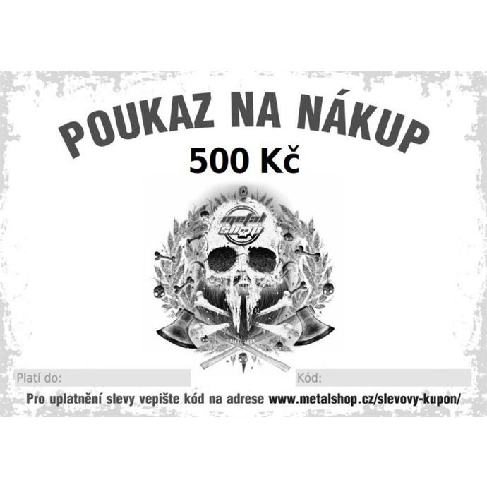 poukaz dárkový elektronický na 500 Kč