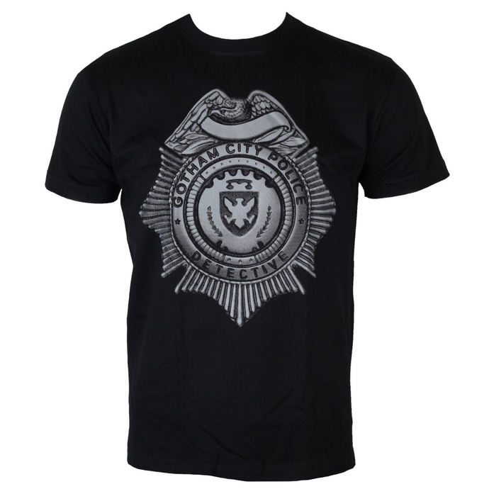 tričko pánské Gotham - Detective Shield - Black - HYBRIS