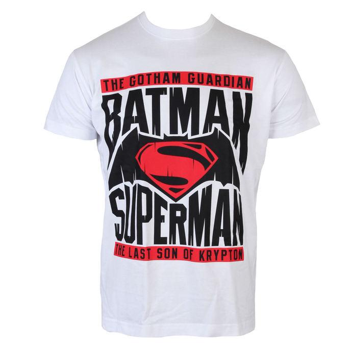 tričko pánské Batman vs. Superman - White - HYBRIS