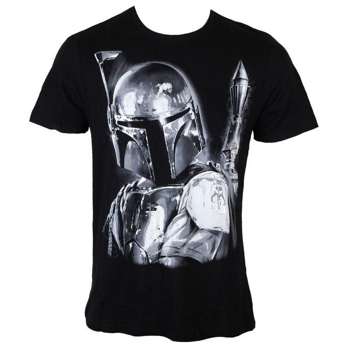 tričko pánské Star Wars - Boba Fett Silver Millar - Black - LEGEND
