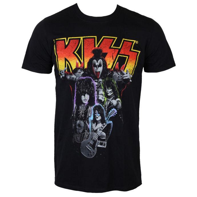 tričko pánské KISS - Neon Band - PLASTIC HEAD