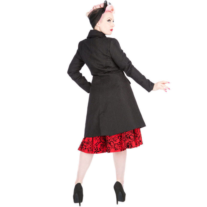 kabát dámský HEARTS AND ROSES - Brocade Military - Black